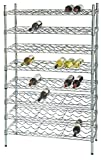 14'' Deep x 36'' Wide x 86'' High 15 Chrome Shelf Single Wine Rack with 135 Bottle Storage Capacity