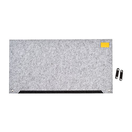 CK Club Richoose Felt Desk Mat Multifunctional Felt Computer Desk Pad Oversized Mouse Pad for Computer Laptop Keyboard with Power Cord Earphone Organizer clips(Light Grey) by CK Club (Image #1)