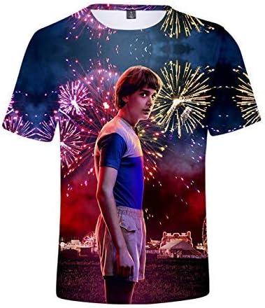 Camiseta Stranger Things Mujer Camiseta Stranger Things Ni/ña Camiseta Stranger Things Temporada 3 Impresi/ón Ringer T-Shirt Abecedario Camisa de Verano Regalo Camisetas y Tops