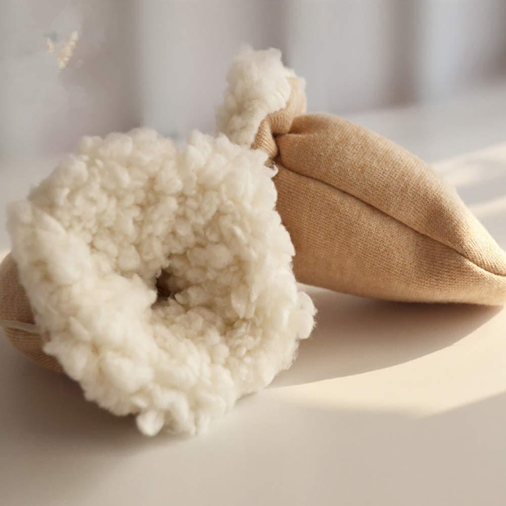 antiara/ñazos guantes c/álidos para invierno para calentadores de manos de 0 a 6 meses 2 pares de guantes de algod/ón para beb/é con forro de lana para reci/én nacidos ni/ñas