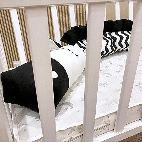 Warooma Parure de lit b/éb/é Enfant Tour de lit Respirant Berceaux Coussinets Dessin anim/é T/ête danimal Taie doreiller Guard Bumper Safe Toddler Cradle Berceau Liner pour b/éb/é Noir//Blanc Zebra