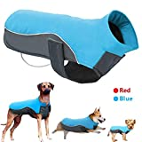 Didog Reflective Dog Winter Coat Sport Vest Jackets Snowsuit Apparel - 8 Sizes Available For Small Medium Large Dogs,Blue,4XL Size