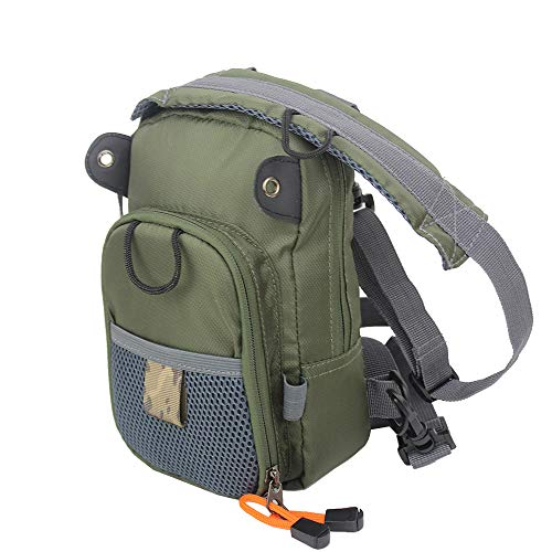 Kylebooker Fishing Tackle Storage Bags Chest Pack (Army Green)