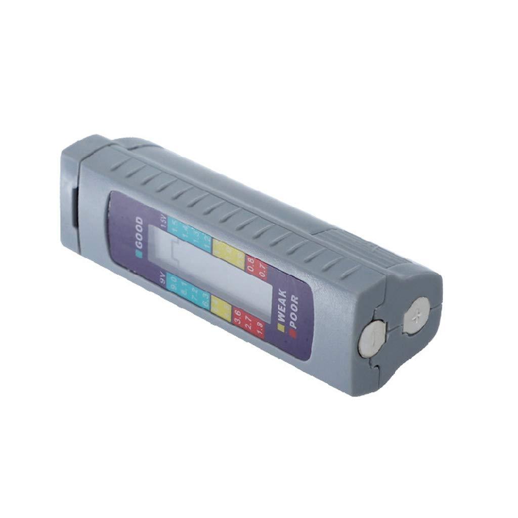 Vxhohdoxs Comprobador de bater/ía universal digital con detector de capacidad universal para pilas AA//AAA 1,5 V 9 V de litio de carbono y zinc alcalino