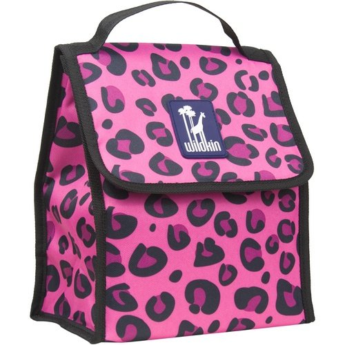 Lunch Bag, Wildkin Lunch Bag, Insulated, Moisture Resistant, Easy to Clean and Folds Flat Making Storage That Much Easier, Ages 3+, Perfect for Kids or On-The-Go Parents – Pink Leopard