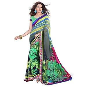 Shilp-Kala Chiffon Printed Multi Colored Sarees SKVDKV1645