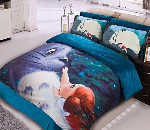 Copripiumino Totoro.Memorecool Home Textile Japanese Miyazaki Hayao Animation My