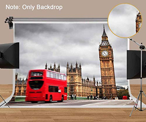 MEETS 7x5ft London Landmark Backdrop Big Ben Backdrop Photo Booth Studio Props Theme Party YouTube Backdrop -