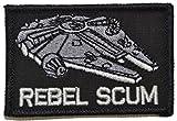 (US) Rebel Scum Alliance Star Wars 2x3 Military Morale Funny Velcro Patch - Black