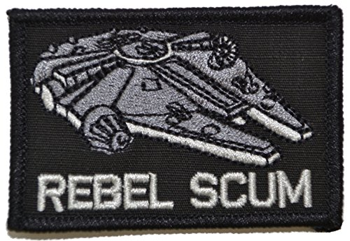 Rebel Scum Alliance 2x3 Morale Hook Fastener Patch - Black