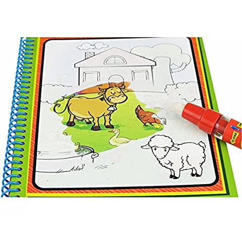 Angelwing Water Drawing Book With 1 Magic Pen Coloring Water Painting Board (Minecraft Nds)