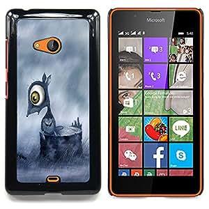 Sad Mouse Caja protectora de pl??stico duro Dise?¡Àado King Case For Microsoft Nokia Lumia 540 N540