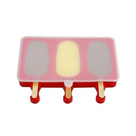 Compra KOBWA moldes de polo de hielo, palos de madera, silicona ...