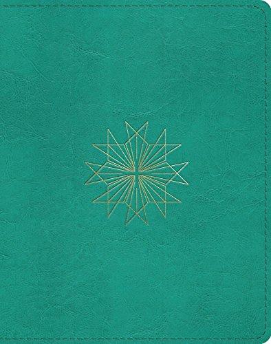 - ESV Single Column Journaling Bible (Trutone, Teal, Resplendent Cross Design)