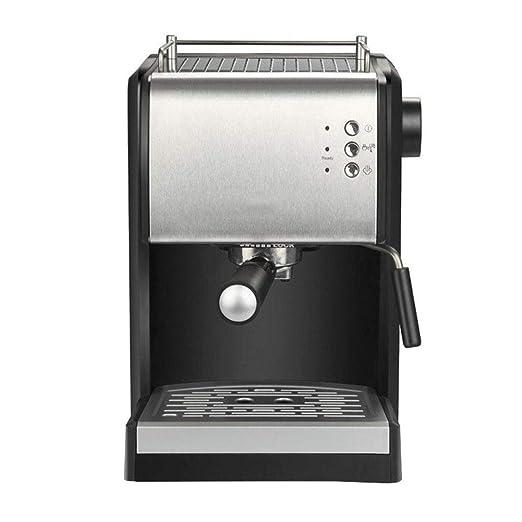 HBBenz Máquina de Espresso,Cafetera Automática,900W • 1,5L de Capacidad,Descarga de presión Automática,Incluye Boquilla de Vapor,Plata Negra: Amazon.es: Hogar
