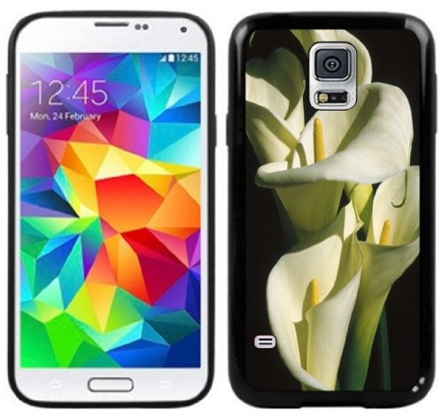 Calla Lily Lilies Handmade Samsung Galaxy S5 Black Case