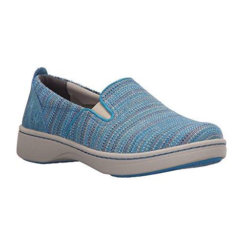Dansko Women's Belle Blue Textured Canvas Fashion Sneaker, 39 EU/8.5-9 M US