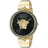 Versace Women's 'Palazzo Empire' Swiss Quartz Gold-Tone and Stainless Steel Casual Watch, Color:Gold (Model: VCO100017)