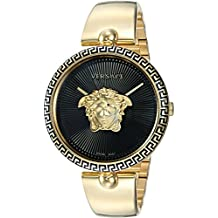 Versace Women's Palazzo Empire Swiss-Quartz Watch with Stainless Steel Strap, Gold, 16.7 (Model: VCO100017