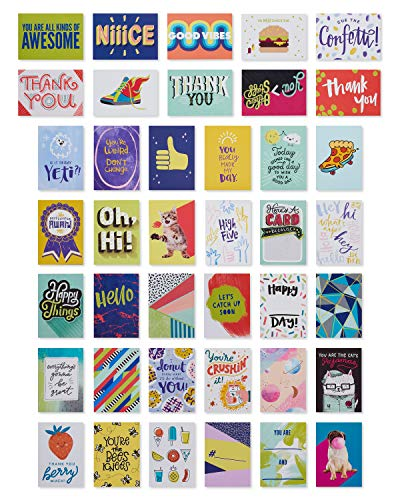 American Greetings Lunch Box Mini Notes, Anytime Happy Vibes, 40-Count from American Greetings