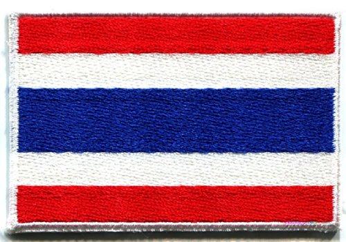 Flag of Thailand Thai Bangkok Siam Siamese Applique Iron-on Patch Medium Cool Patch Iron On