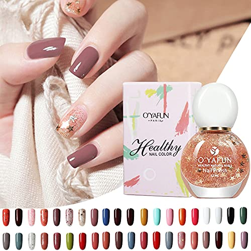 Quick Dry & Easy Peel Off Nail Polish - Low Odor Water-Based Nail Lacquer for DIY Nail Art with 40 Colors - Based Nail polish & Decoration Products for Women & Girls(#31)