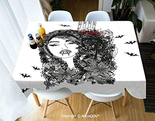 AngelDOU Modern Tablecloth Rectangle Table Cover Abstract Portrait