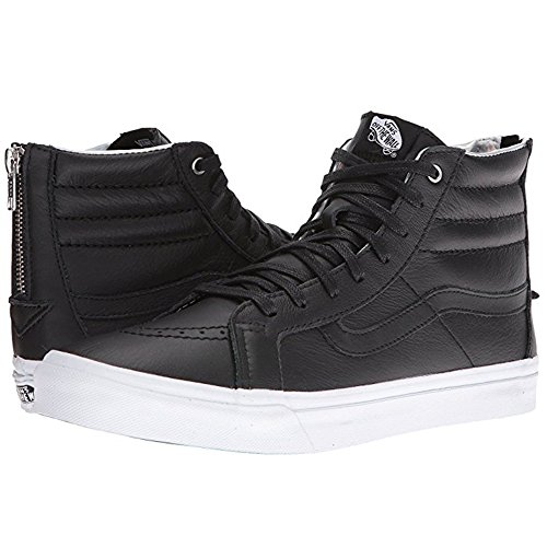 Vans Mens Sk8 Hi Slim (Hologram) Zip Skateboarding Shoes (5.5 US Women / 4 US Men, Black/True White)
