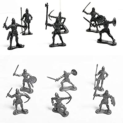 Quande Military Soldier Catapult Toys Mini Middle Ages Soldier Weapon Medieval Knights Warriors Soldiers Cavalries and Horses Figures Model: Toys & Games