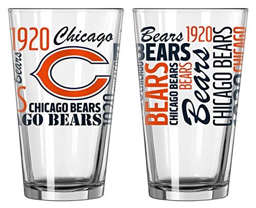 Boelter Brands Boelter 16-Ounce Spirit Pint Glass - NFL Chicago Bears