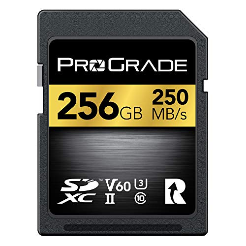 SD Card V60 (256GB) -Up to 130MB/s Write Speed and 250MB/s Read Speed | for Professional Vloggers, Filmmakers, Photographers & Content Curators – Update Firmware Included – by ProGrade Digital
