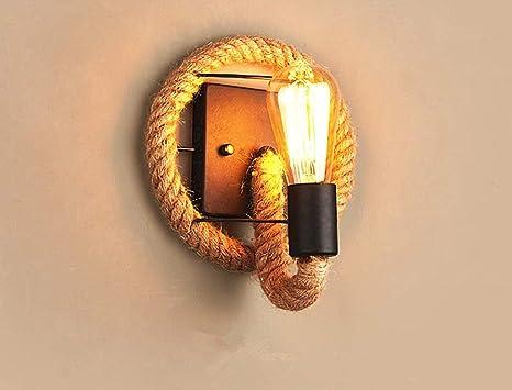 Zhang ying zy lampada da parete in corda di canapa lampada da