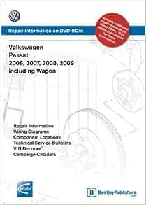 volkswagen passat 2006, 2007, 2008, 2009 includes wagon: repair manual on  dvd-rom (windows 2000/xp): volkswagen of america: 9780837613611:  amazon com: books