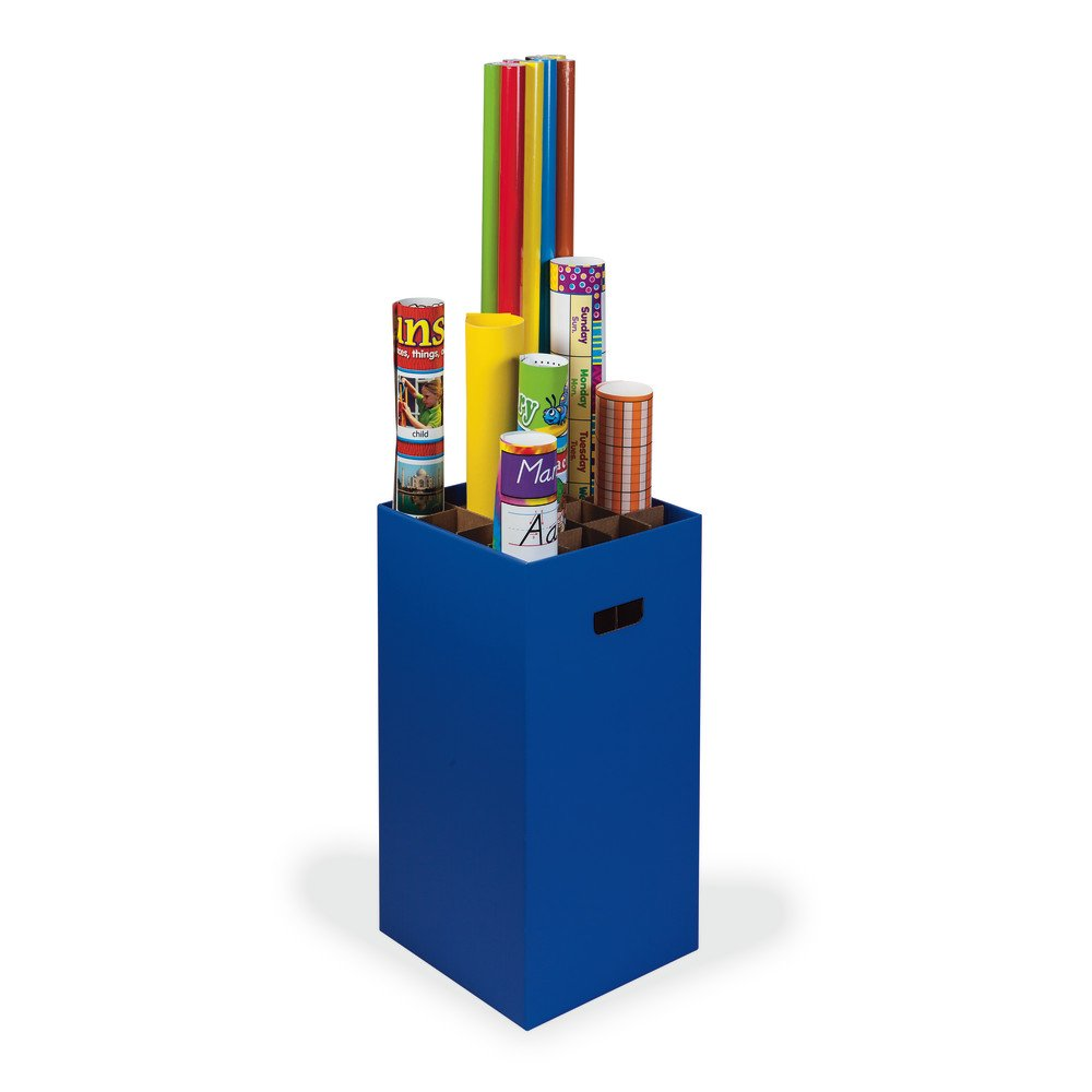 Classroom Keepers Poster & Roll Storage, Blue, 24'' H x 12-1/4''W x 12-1/4''D, 1 Piece