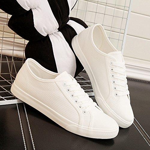 Scarpe scarpe bianche basic scarpe uomini di uomo amanti da bianca selvatici tela scarpe scarpe estive casual XFF di uomo stoffa da FIqdfwq