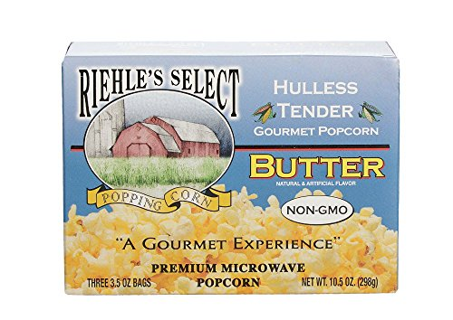 Riehle's Select Popping Corn Hulless Butter Microwave Popcorn ()