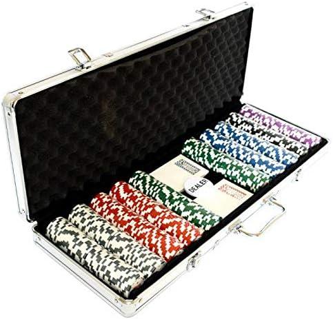en Clay Composite 14 g WSOP Mallette de 500 jetons de Poker Version Tournoi avec Accessoires