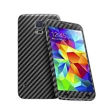 Cruzerlite Carbon Fiber Skin for The Samsung Galaxy S5, Retail Packaging, Black (Full Kit