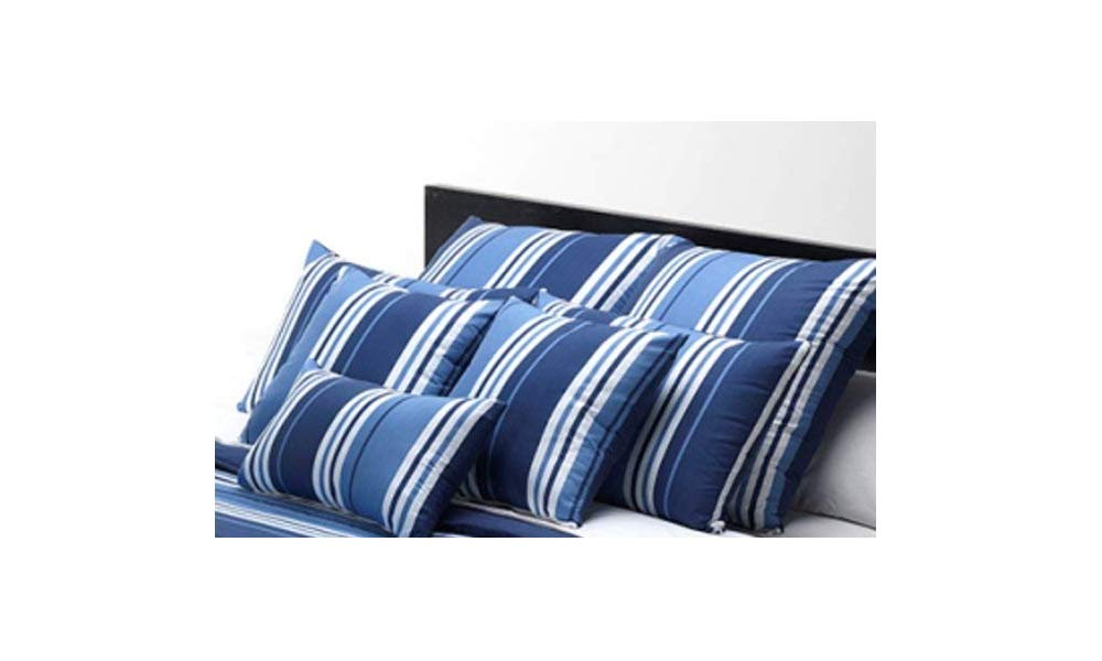 Belnou Funda COJIN * Tacto Seda* Rayas Anchas Color Azul ...