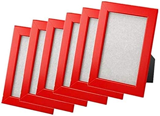 """Set of 2 IKEA FISKBO 4 x 6/"""" Wood Picture Frame 5 Colors"""