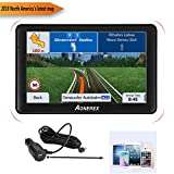 Aonerex -GPS Navigation System 7-inch HD Display Built-in with 128MB-8GB, Car Satellite CPS Navigation For Car Lifetime Free Update Map (Black)