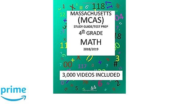 4th Grade MASSACHUSETTS MCAS 2019 MATH Test Prep 4th