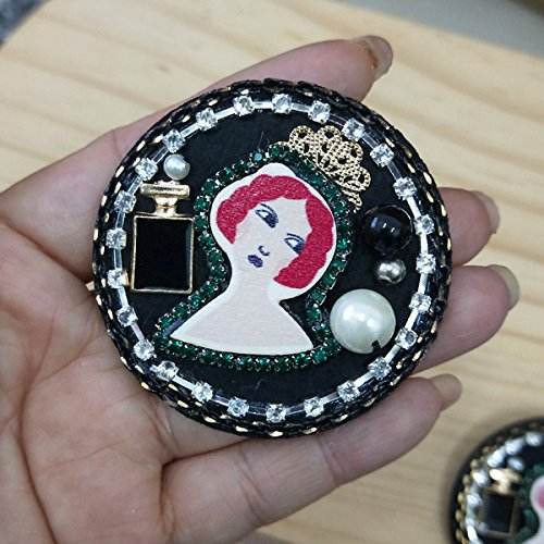 Crown Princess wooden runners circular diamond brooch parts 2 1 ()