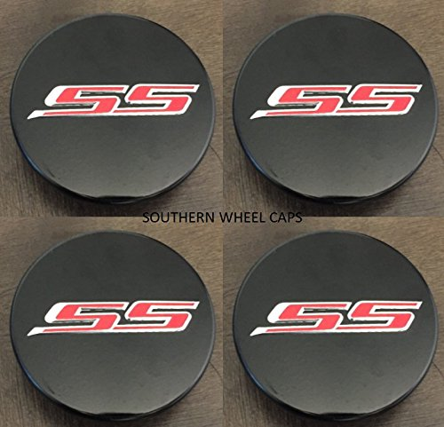 Camaro Center Cap - 4pcs SET 2016-2018 Chevy Camaro Center Wheel hub Caps Set of 4 BLACK 19351757