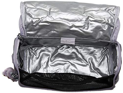 "Kipling Kichirou Insulated Lunch Bag, Frosted Lilac Metallic, 9""L X 8""H X 5""D"