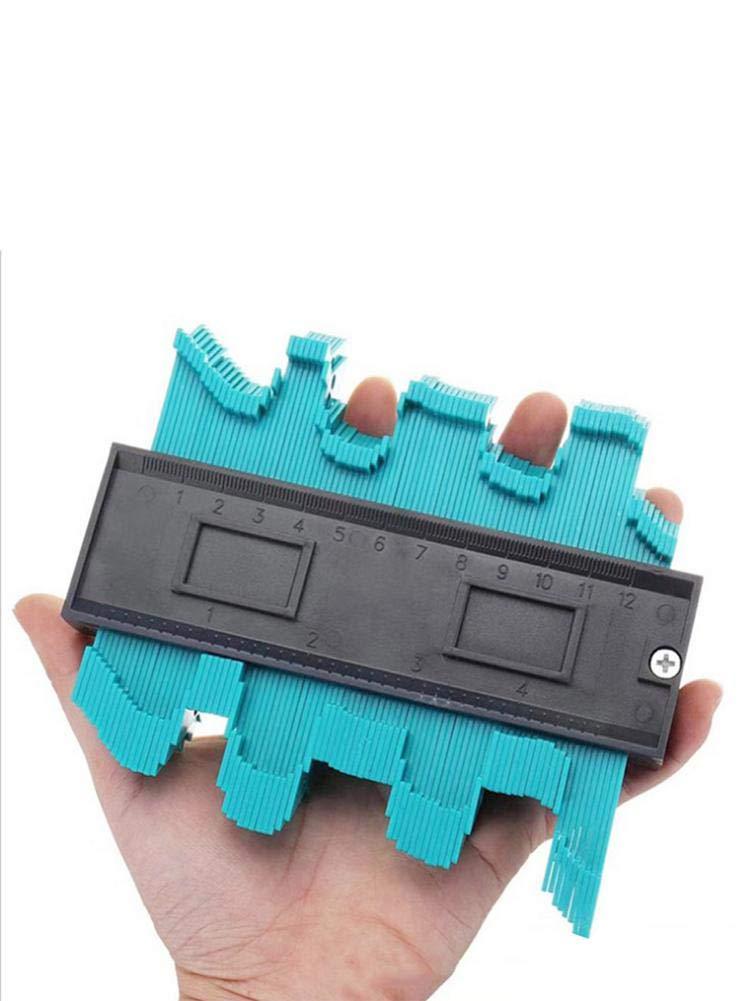 10 Inch Profile Gauge Shape Duplicator Plastic Woodworking Shape Precisely Copy Irregular Shapes Copy The Profile of Sharp//Square//Rounded//Slanted Corners IMCROWN Contour Gauge