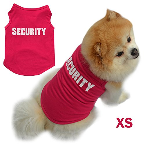 AStorePlus Hottest SECURITY Design Dog Vest, New Fashion Charming Puppy Dog Cat T Shirts Clothes Summer Pets Costumes Apparel, XS Rose (Hottest Outfits 2017)
