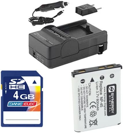 SDNP45 Battery SDM-141 Charger Fujifilm FinePix JX660 Digital Camera Accessory Kit Includes KSD4GB Memory Card