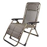 ZHIRONG Zero Gravity Chair Garden Folding Chairs Sun Lounger Reclining Relaxer Chair Texteline Multi Position Outdoor Patio (color : A)
