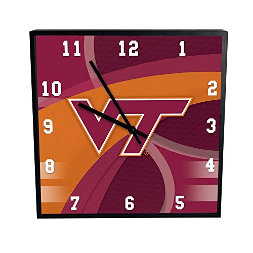 The Memory Company NCAA Virginia Tech Official Carbon Fiber Square Clock, Multicolor, One Size
